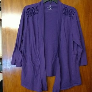 NY&CO purple light cover up w/knotted design